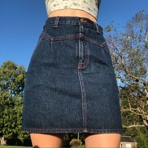 3/$30 Vintage High Waisted Denim Skirt